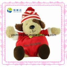 Brinquedo encantador do Natal da peluche do cão (XDT-0182)