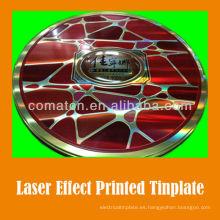 JIS G3003 láser efecto hojalata impresa hoja de lujo puede producción