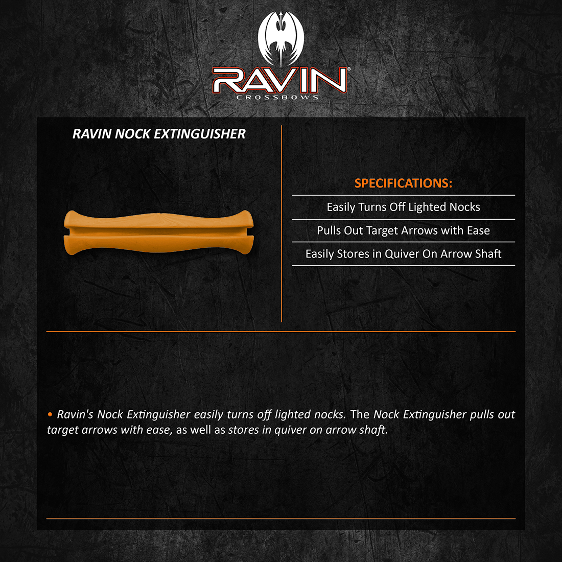 Ravin_Nock_Extinguisher_Product_Description