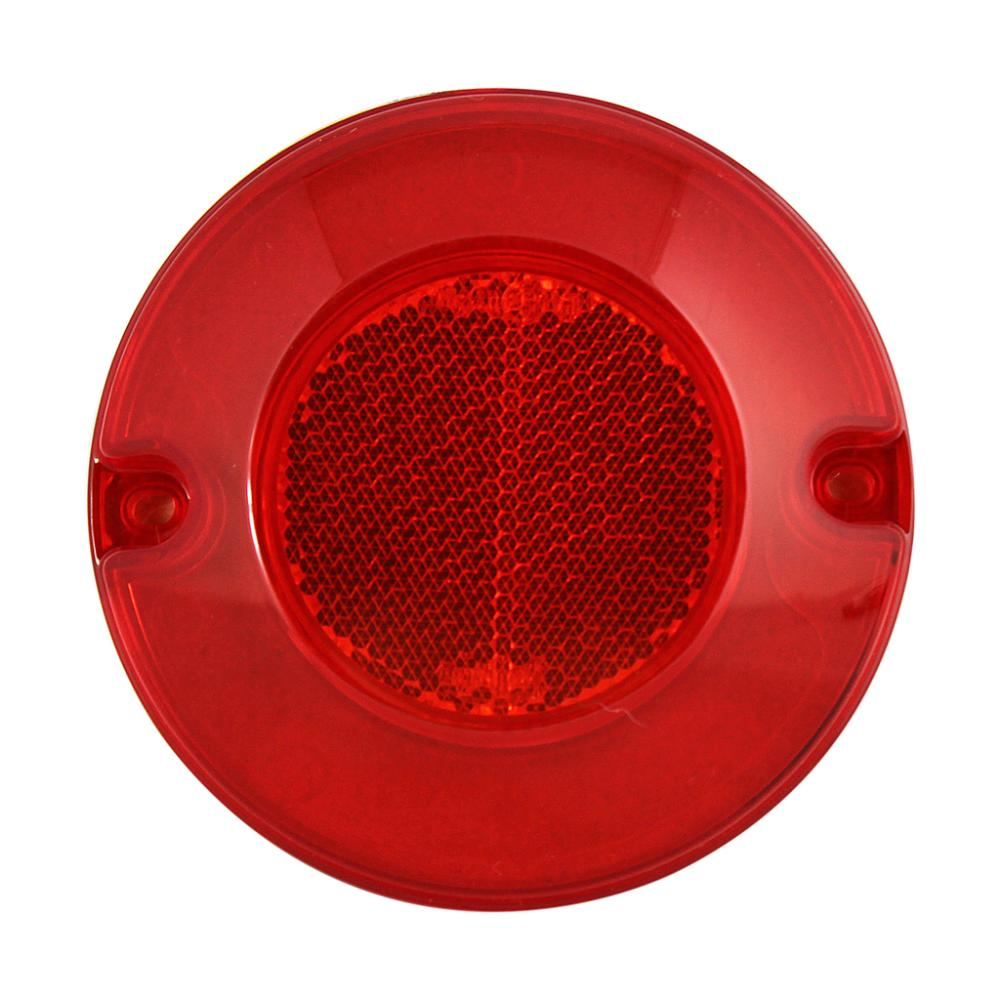 New Round Red PC Trailer Back Reflectors
