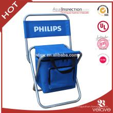 Uso geral da mobília ao ar livre e cadeira Folding sim dobrada com saco mais fresco