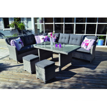 Patio Resin Wicker Garden Furniture Outdoor Rattan Sofa Set