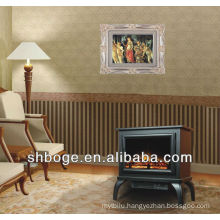 freestanding honed marble fireplace mantel