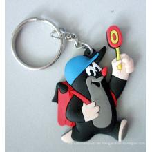 Benutzerdefinierte Soft PVC Keychain, Gummi-Schlüsselanhänger, Silikon-Schlüsselanhänger