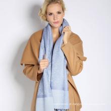 lenço de seda & acrílico misturado da forma para a senhora com jacquard