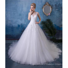 Платье A Линии Свадебное Платье Невесты #0014