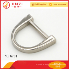 Jinzi brand high quality D shape handbags belt buckles