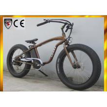 500W/350W/250W Luxurious Golden Cruiser Electric Bicycle