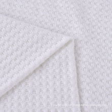 Tissu de gaufre recyclé tricoté en viscose de polyester extensible personnalisé de haute qualité pour Cardigan