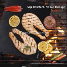 """BBQ Grill Mats -100% Antiadherente, fácil de limpiar y reutilizable- 15.75 x 13 """"- (Juego de 2)"""