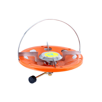 orange outdoor gas stove