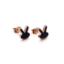 Fashion surgical stainless steel cute stud earrings