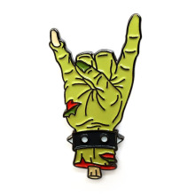 High Quality Zombie Rock Hand Lapel Pin