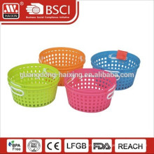 cesto de lavagem de legumes/fruta de plástico dobrável
