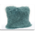 OEM Plain Design Plush Mongolian Lamb Fur Pillow