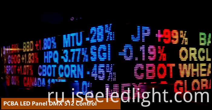 Digital led panel in DMX 512 control