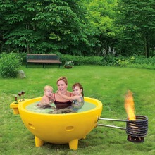 Outdoor Fire Barbecue Heat Water Hot Tub