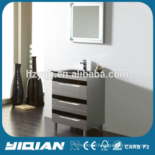 Floor Design Modern Plastic Waterproof Bathroom Furniture with Mirror