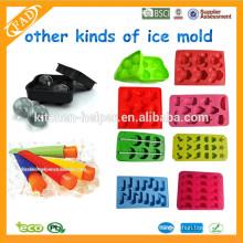 Os mais vendidos DIY caseiro Cute Ice Cube Bandeja Silicone Popsicle Moldes Silicone Industrial Popsicle Moldes