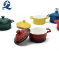 Deckel Hitzebeständiger Keramik-Farb-Email-Auflauf