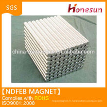 Strong sintered rare earth ndfeb magnets Disc D10mmx 1mm N35 Ni plating