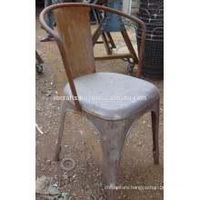 Metal Restaurant Chair Industrial Style Rustic