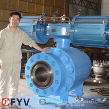 High Pressure Big Size Pneumatic Fixed Ball Valve