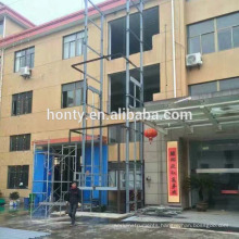 Warehouse electric vertical lift platform hydraulic goods lift