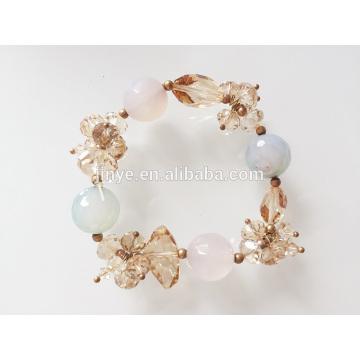 Bracelete frisado de cristal de Bling Bling da forma
