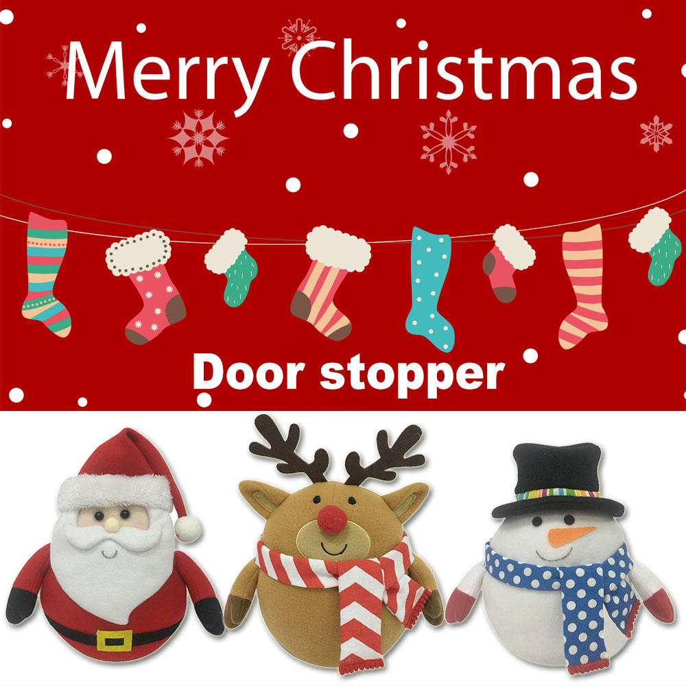 Traditional style christmas decorative door stopper