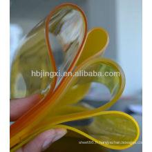 Feuille transparente de PVC souple