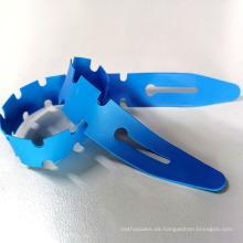 Torniquete azul de un solo uso Fishbone 25 * 400 * 0.635MM