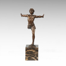 Statue sportive Statue Run Player Bronze Sculpture TPE-711