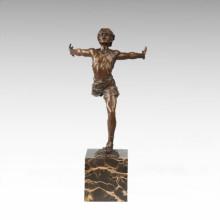 Спортивный рисунок Статуя бегущий игрок Бронзовая скульптура TPE-711