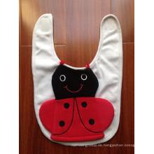 Hersteller von Babylätzchen aus Baumwolljersey mit Frottee-Cartoon-Katzen-Flaschenhalter