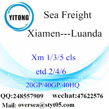 Xiamen Port Sea Freight Shipping ke Luanda