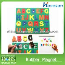 feuille magnétique standard de caoutchouc coloré pour les enfants