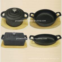 Preseasoned Gusseisen Mini Server Topf China Fabrik