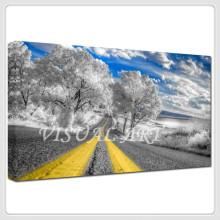 Impresiones fotográficas de la foto del camino impresiones en lienzo estiradas