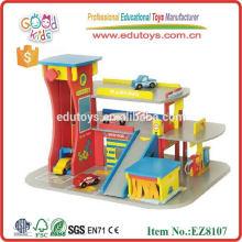 2014 nuevo juguete de madera del garage para los cabritos, juguete popular del garage, juguete de madera del garage de la venta caliente