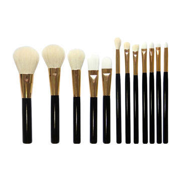 Cabelo sintético e natural 12PCS OEM aceitado Makeup Brush Set