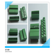 3.5mm Angle 7 Pin/Way Green Pluggable Type Screw Terminal Block Connector