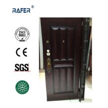 Nuevo diseño de puerta de acero de color oscuro (RA-S020)