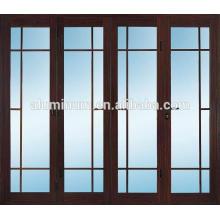 Portes en verre en aluminium en bois