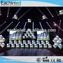 LED-Anzeige Pixelabstand 4mm SMD indoor hd voller Farbe führte Kabinett Druckguss