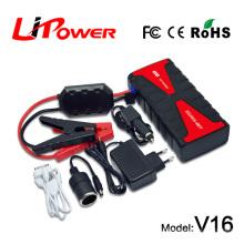 Сертификация CE / ROHS / FCC / MSDS 12v автомобильное зарядное устройство 18000mAh аварийный стартер для стартера автомобиля