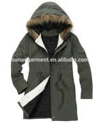 New Men Women Military Long Winter Trench Coat Jacket Hooded Parka overcoat