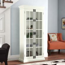 Белые шкафы для хранения домашнего дисплея