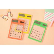 Promoción Ultra delgado Mini calculadora Solar