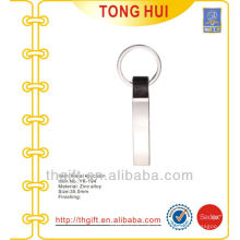 Silver customized shape keychains blank high quality